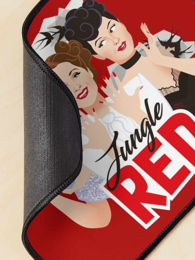 Alternate view of Jungle Red Mouse Pad