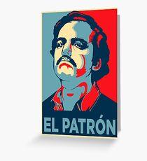 Pablo Escobar Narcos Hope Poster Greeting Card