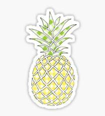 Gingham Preppy Pineapple Sticker