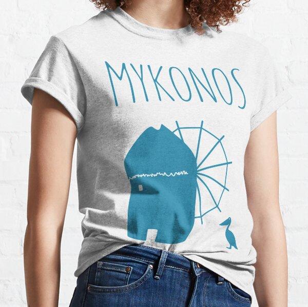Mykonos, Greece: Iconic Windmill & Petros the Pelican Classic T-Shirt