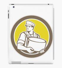Cheesemaker Holding Parmesan Cheese Circle iPad Case/Skin