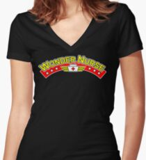 Wonder Nurse Women's Fitted V-Neck T-Shirt