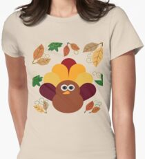 Thanksgiving Turkey Women's Fitted T-Shirt