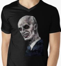 Gentlemen illustration Mens V-Neck T-Shirt