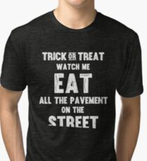 Trick or treating closer to the ground - white Tri-blend T-Shirt
