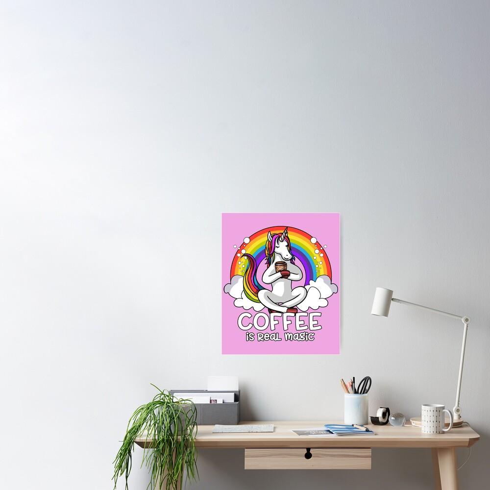Unicorn Coffee Addict Poster