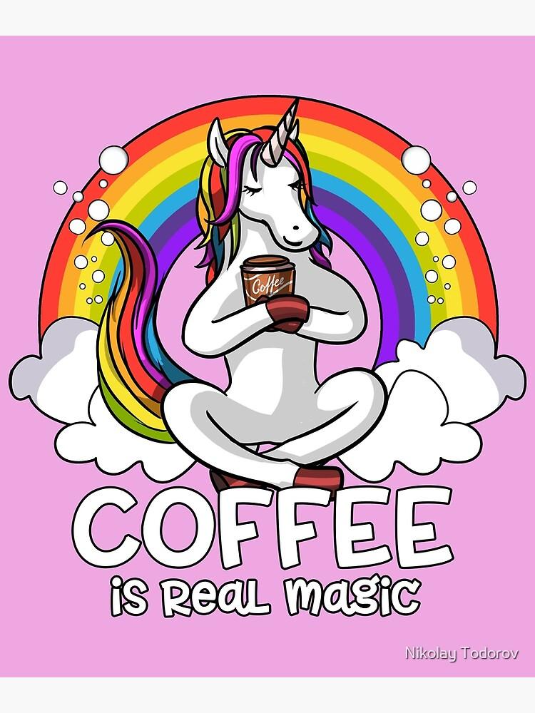 Unicorn Coffee Addict by underheaven