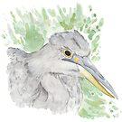 Grey Heron by pokegirl93