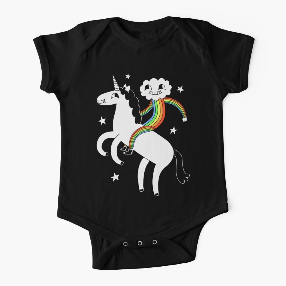 Unicorn & Rainbow Boy Baby One-Piece