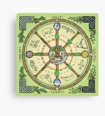 Wheel of the Year - Full Colour Canvas Print