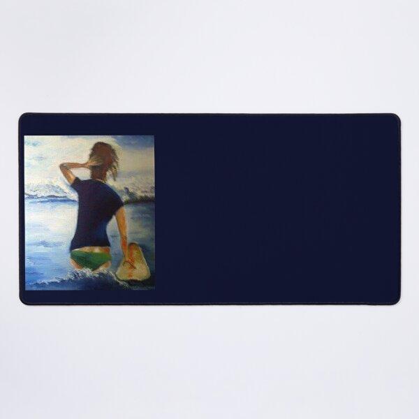 FUN LOVING,LAID-BACK,SANDY-HAIRED SURFER Desk Mat