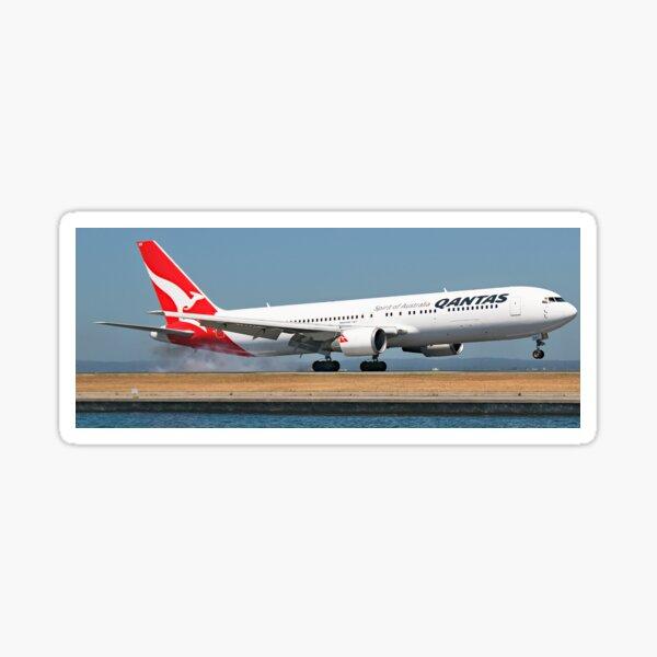 Qantas Boeing 767. Touchdown. Sticker