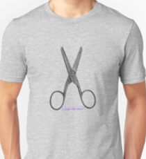 scissors. good old days. T-Shirt