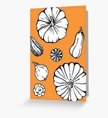 Thanksgiving pumpkins Greeting Card