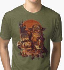 Unlucky Halloween Witch Tri-blend T-Shirt