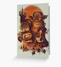 Unlucky Halloween Witch Greeting Card