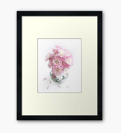 Pretty Pink Mums Still Life Framed Print