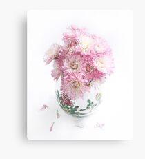 Pretty Pink Mums Still Life Canvas Print