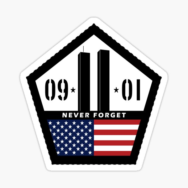 Never Forget 9/11  Sticker