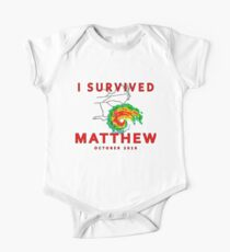 I Survived Hurricane Matthew Kids Clothes
