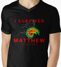 I Survived Hurricane Matthew Men's V-Neck T-Shirt