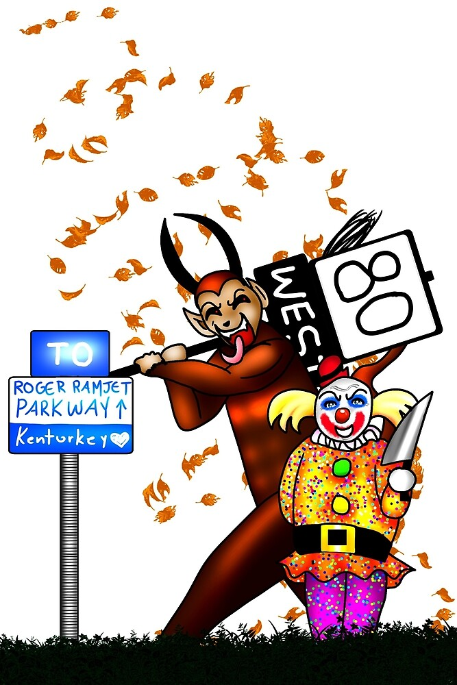 Krampus HATES Clowns by CodenameSailorE