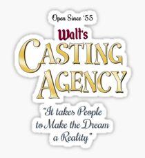 Walt's Casting Agency Sticker
