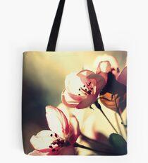 Retro Apple Blossoms Tote Bag
