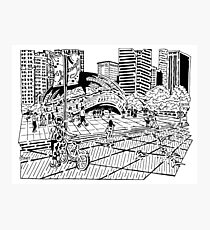 Cloud Gate Maze (The Bean) Photographic Print