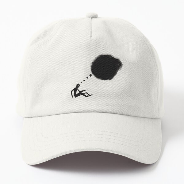 Dark Thoughts About Dark Things | Cartoons for Depressives Dad Hat