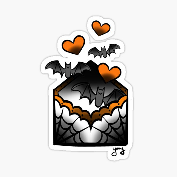 Halloween Love Letter Sticker