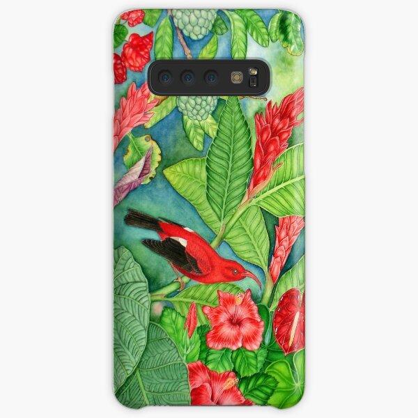 Red Iiwi Garden Samsung Galaxy Snap Case