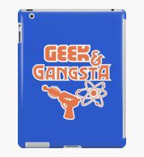 Geek & Gangsta - Nerdy Retro Science Fiction Humor iPad Case/Skin