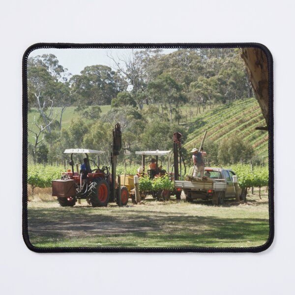 Ramming posts on the Vineyard - by South Australian artist Avril Thomas Mouse Pad