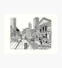 Art Institute Maze Art Print
