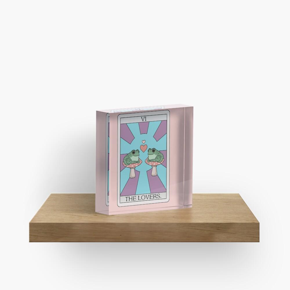 The Lovers Frog Tarot Acrylic Block
