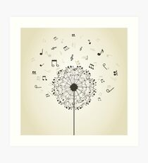 Music a dandelion Art Print