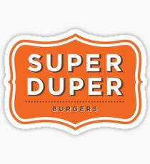 Super Duper Burger Sticker