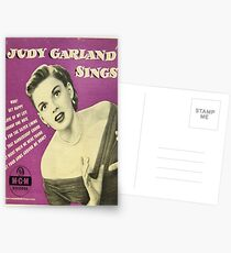 JUDY GARLAND SINGT ~ EARLY 1950 45 BOX SET Postkarten