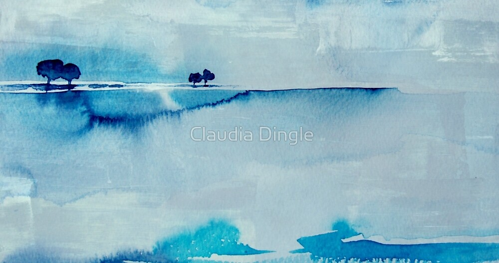 trees in the middle of nowhere by Claudia Dingle