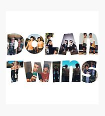 Dolan twins- picture filled Photographic Print