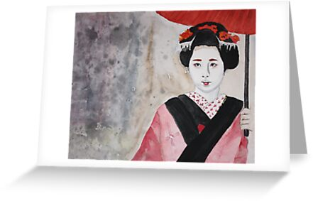 maiko in Kyoto by Claudia Dingle