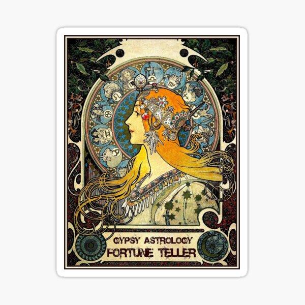 GYPSY ASTROLOGY;Vintage Fortune Teller Print Sticker