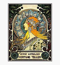 GYPSY ASTROLOGY;Vintage Fortune Teller Print Photographic Print