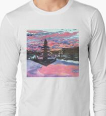 Temple Sunset  Long Sleeve T-Shirt