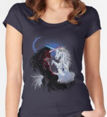 Unicorn Wars Women's Fitted Scoop T-Shirt