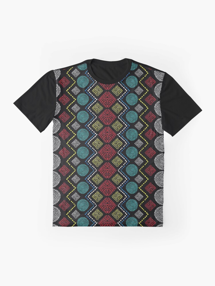 Alternate view of Ethnic African Motif 1 Graphic T-Shirt