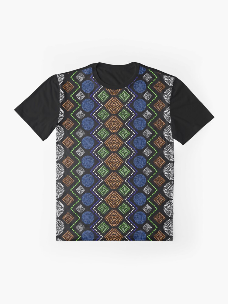 Alternate view of Ethnic African Motif 2 Graphic T-Shirt
