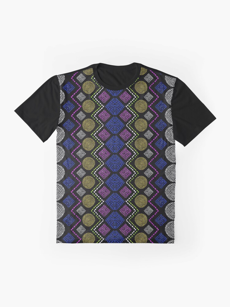 Alternate view of Ethnic African Motif 3 Graphic T-Shirt