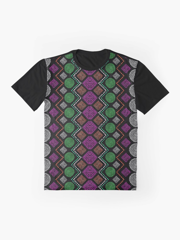 Alternate view of Ethnic African Motif 4 Graphic T-Shirt